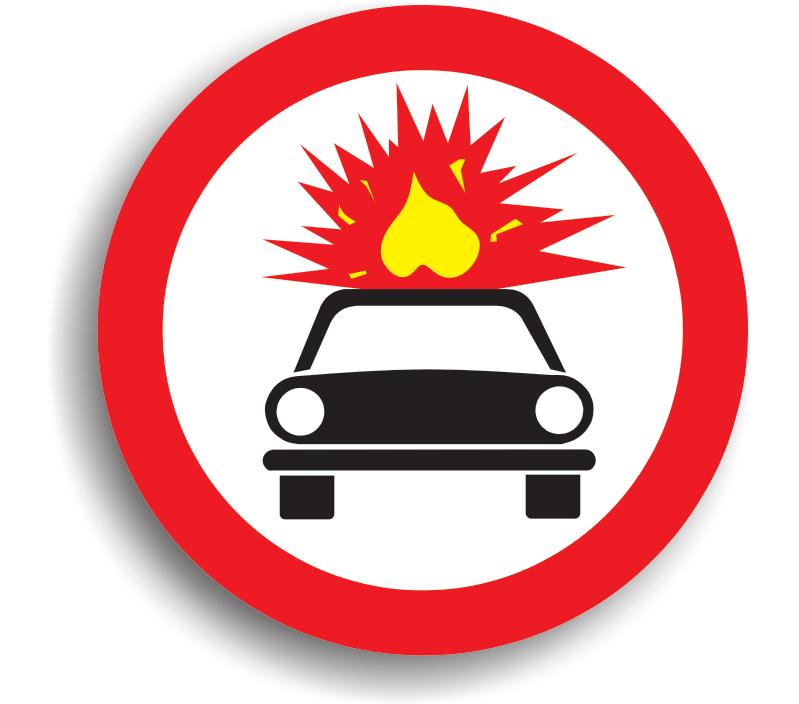 Accesul interzis autovehiculelor care transportă substanțe explozive sau ușor inflamabile