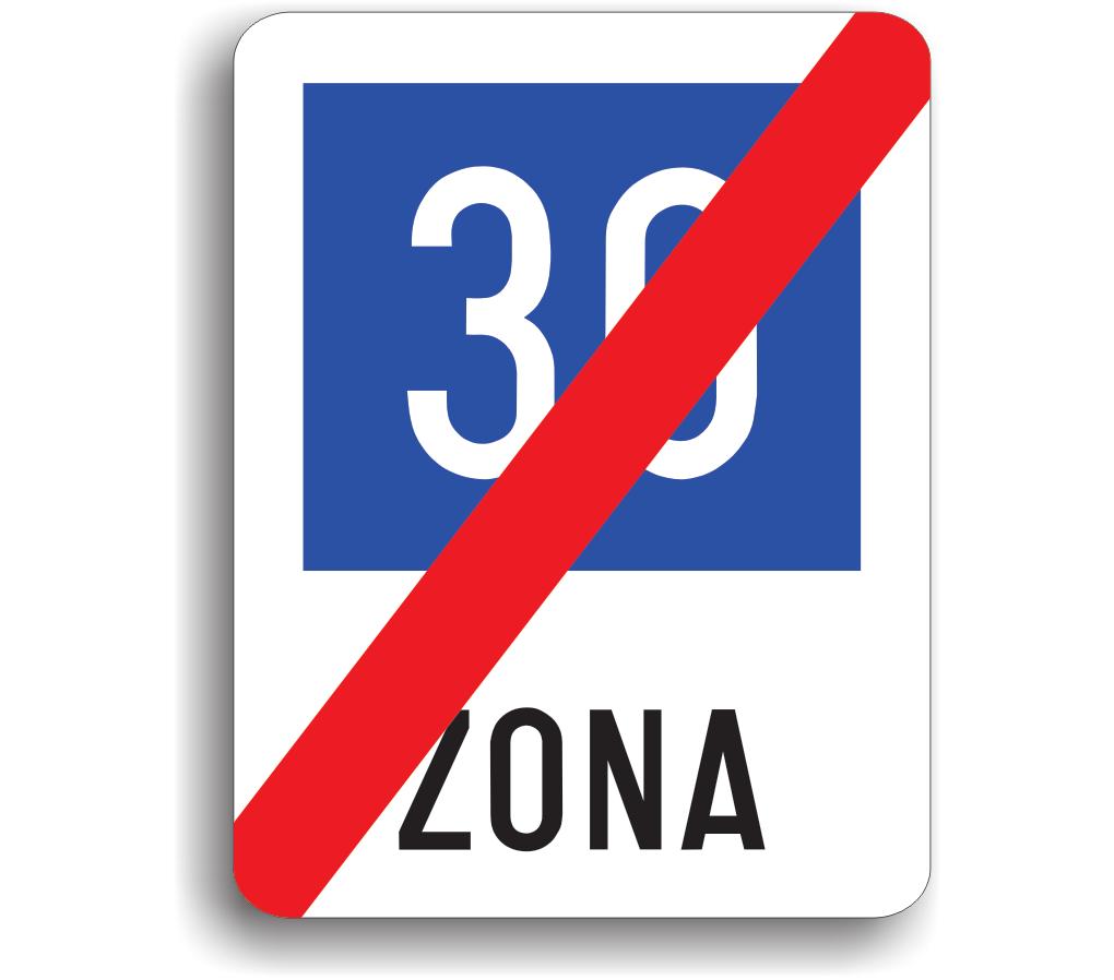 Sfârșitul zonei cu viteză recomandată de 30 km/h