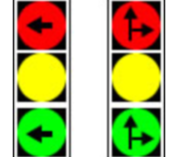 Semafor cu indicarea direcției de deplasare