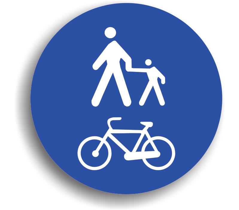 Pistă comună pentru pietoni și bicicliști