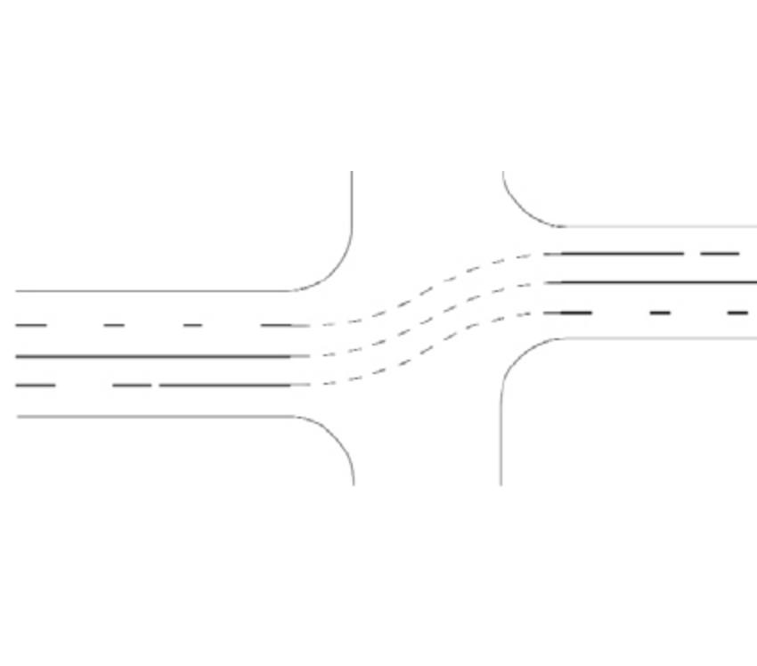 Marcaj de ghidare la traversarea unei intersecții