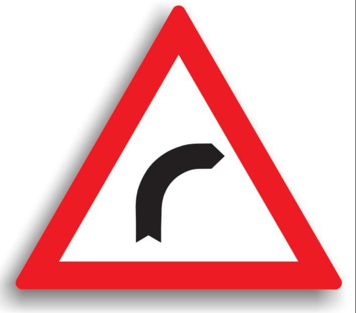 Curbă la dreapta