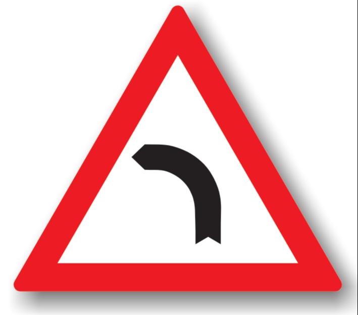 Curbă la stânga