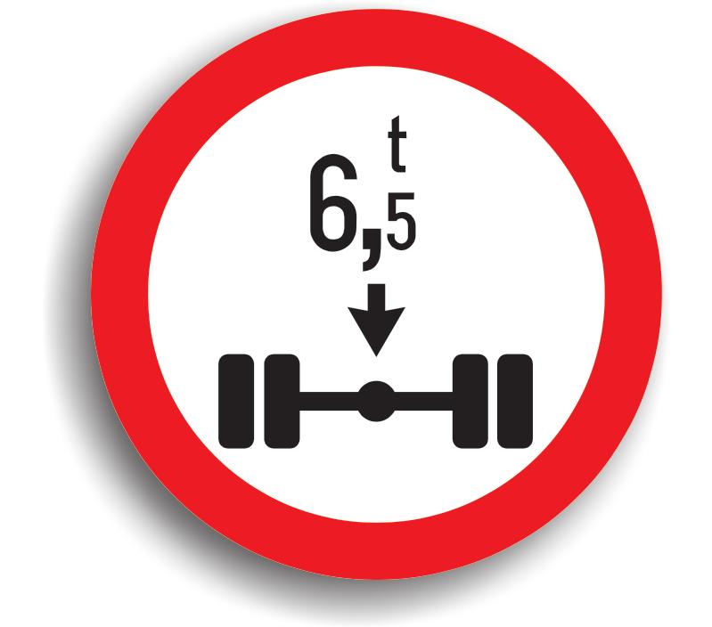 Accesul interzis vehiculelor cu masă mai mare de ... t pe osia simplă