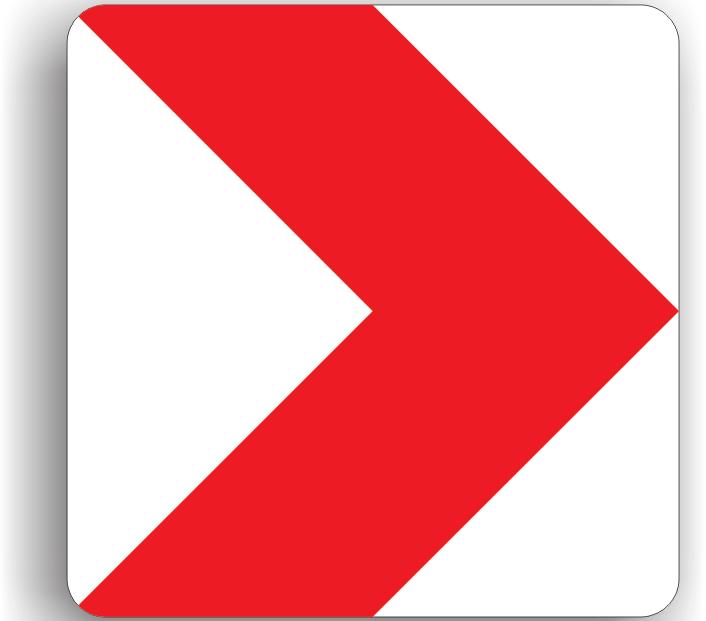 Panouri succesive pentru curbe deosebit de periculoase