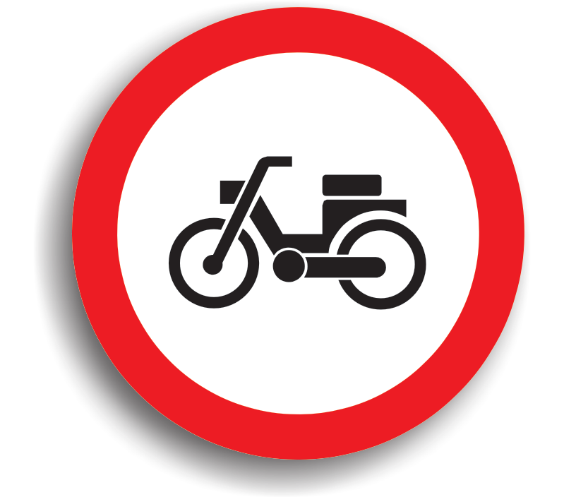 Accesuk interzis mopedelor (ciclometrelor)