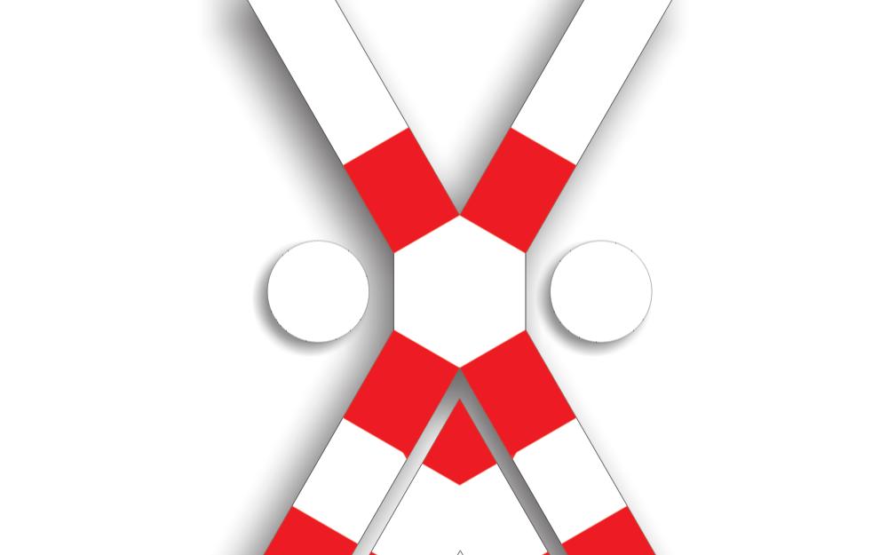 Indicatoare instalate la trecerea cu calea ferată