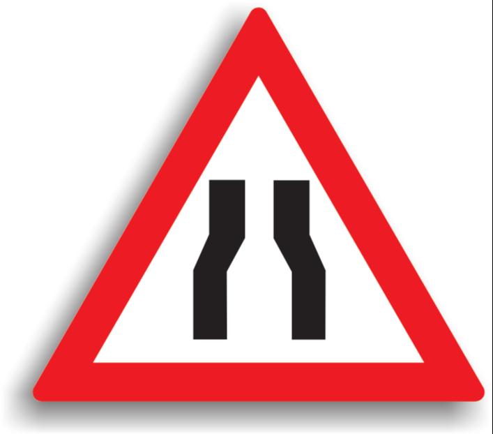 Drum îngustat pe ambele părți
