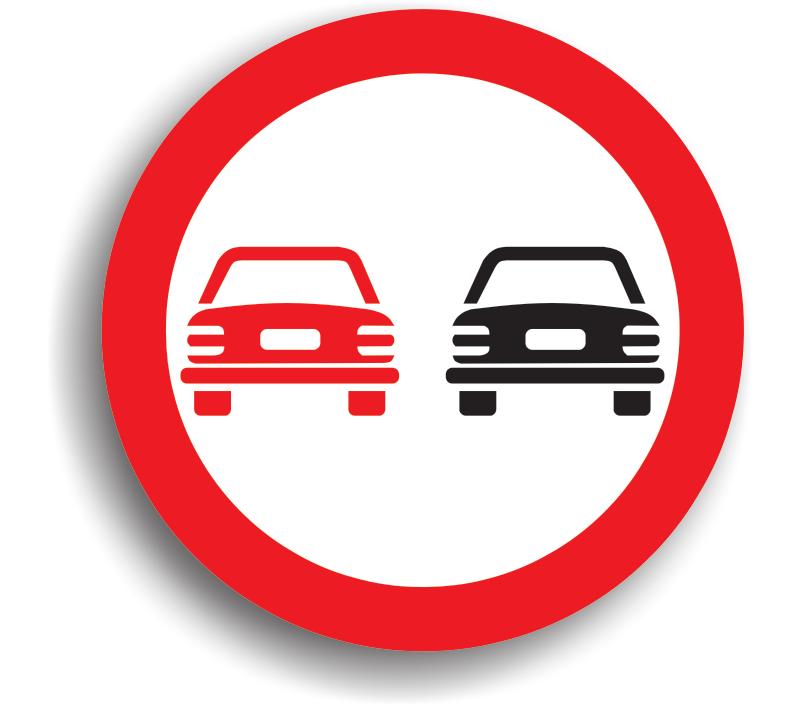 Depășirea autovehiculelor, cu excepția motocicletelor fără ataș, interzisă