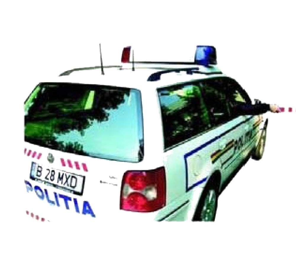 Semnalele polițistului din mașina de poliție