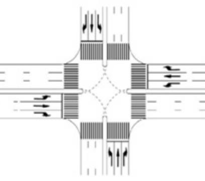 Marcaj de ghidare în intersecție