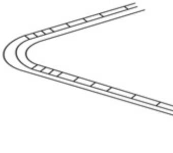 Marcaj de reducere a vitezei înaintea unor curbe deosebit de periculoase