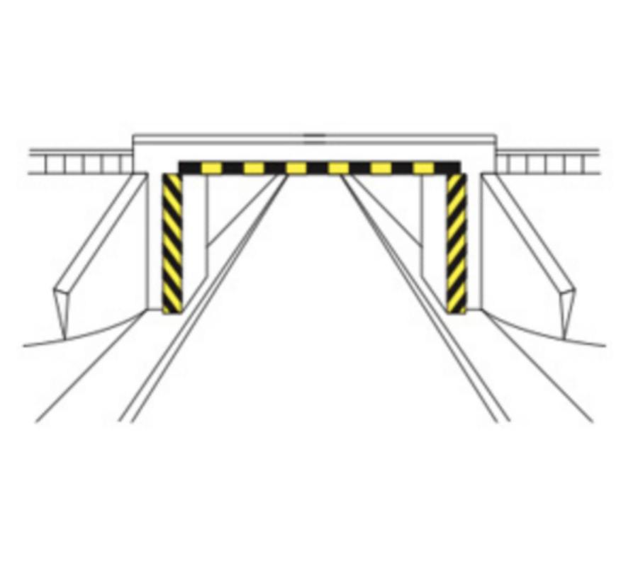 Marcaje la pasaje care nu au asigurat gabaritul de înălțime