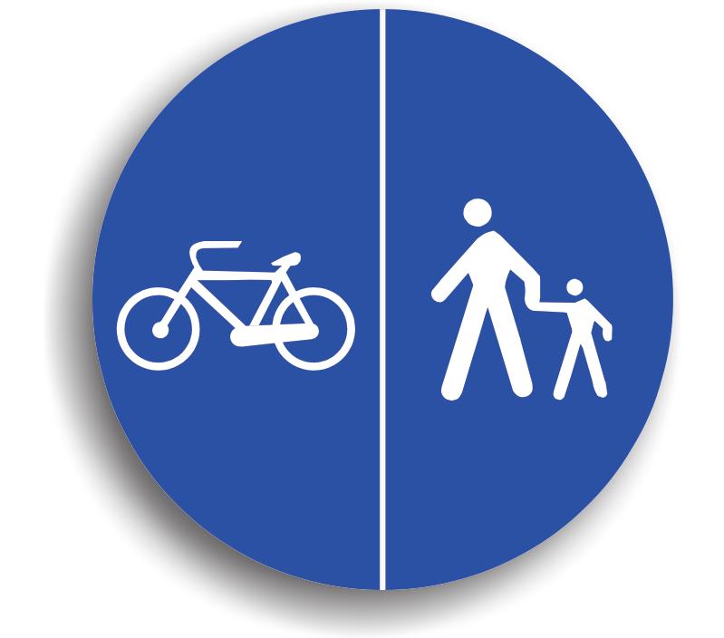 Delimitare piste pentru pietoni și biciclete