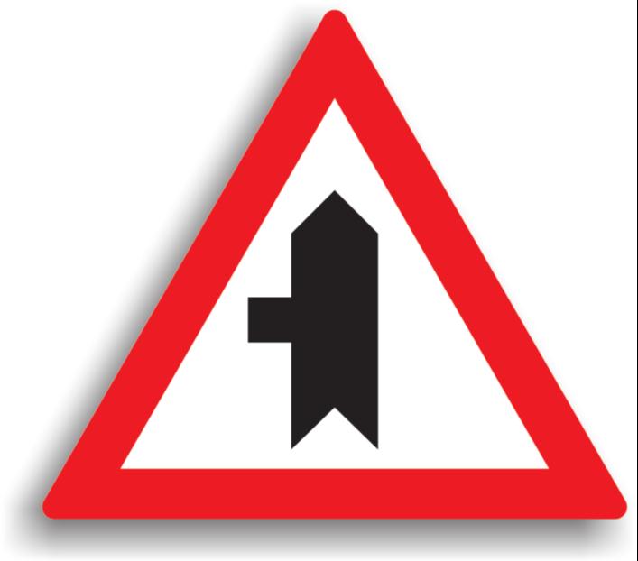 Intersecție cu drum fără prioritate