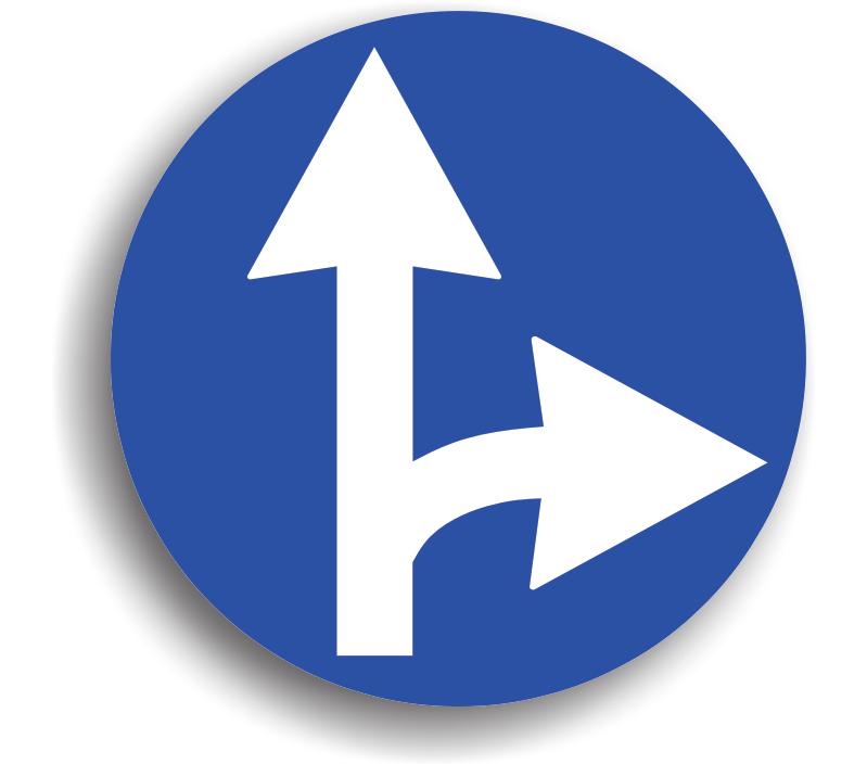 Înainte sau la dreapta