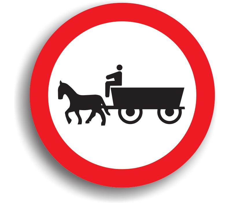 Accesul interzis vehiculelor cu tracțiune animală