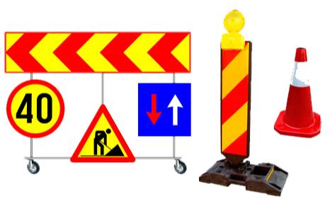 Mijloace auxiliare de semnalizare a lucrărilor