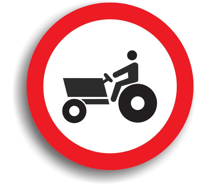 Accesul interzis tractoarelor și mașinilor autopropulsate pentru lucrări