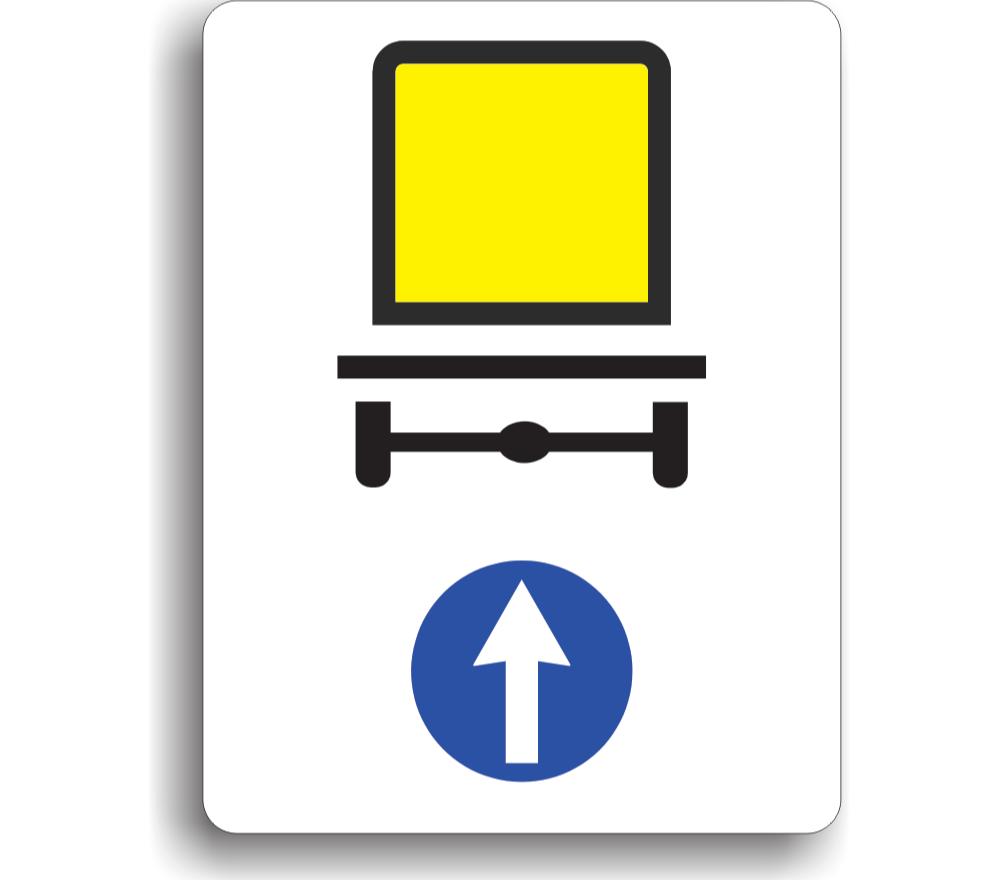 Direcție obligatorie pentru autovehiculele care transportă mărfuri periculoase