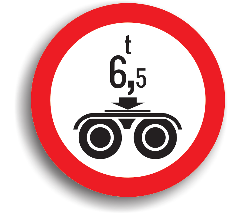 Accesul interzis vehiculelor cu masă pe osia dublă mai mare de ... t