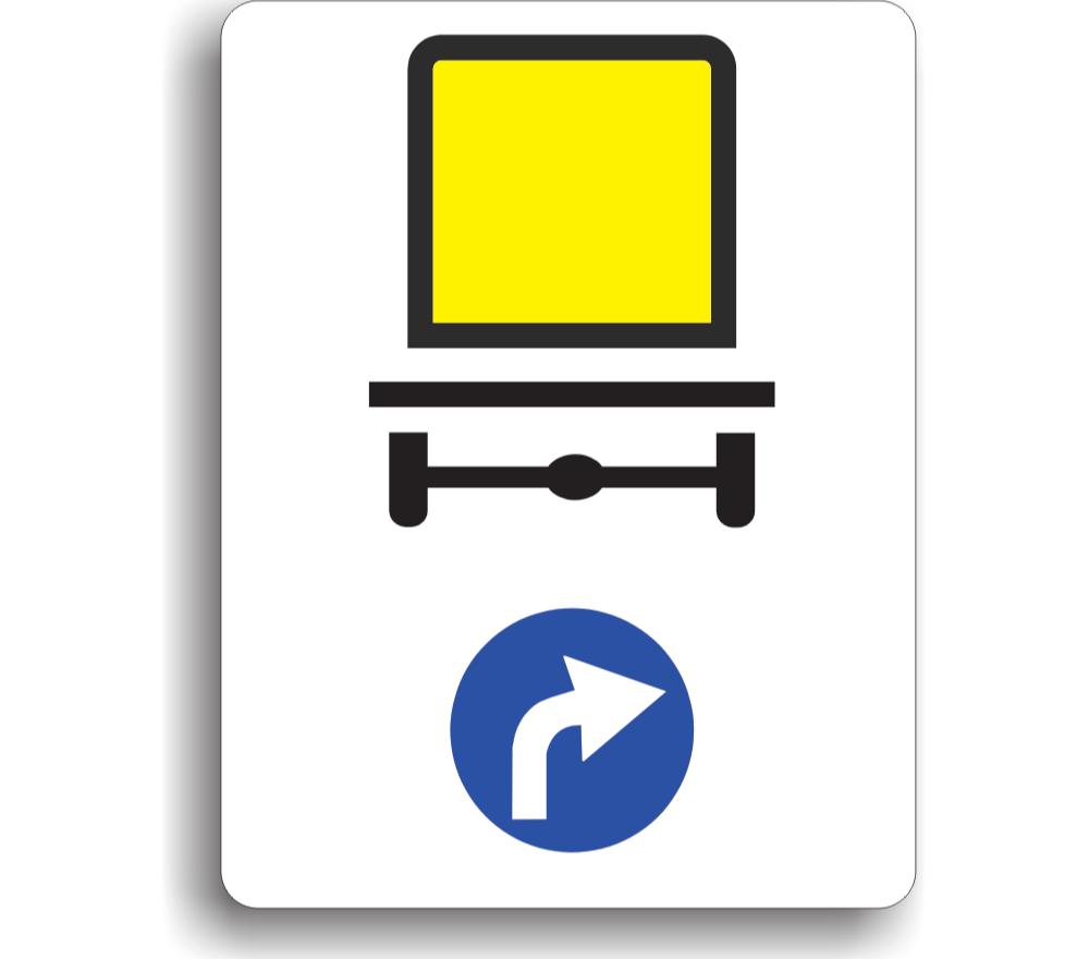 Direcție obligatorie pentru vehicule care transportă mărfuri periculoase