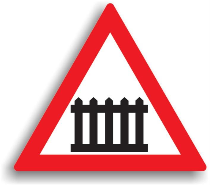 Trecere la nivel cu cale ferată cu bariere sau semibariere