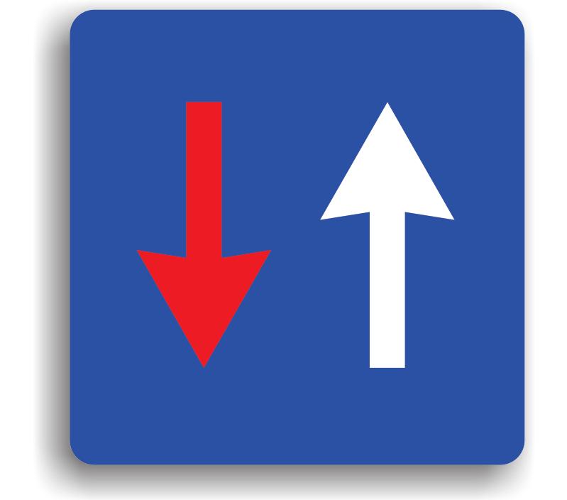 Prioritate față circulația din sens invers