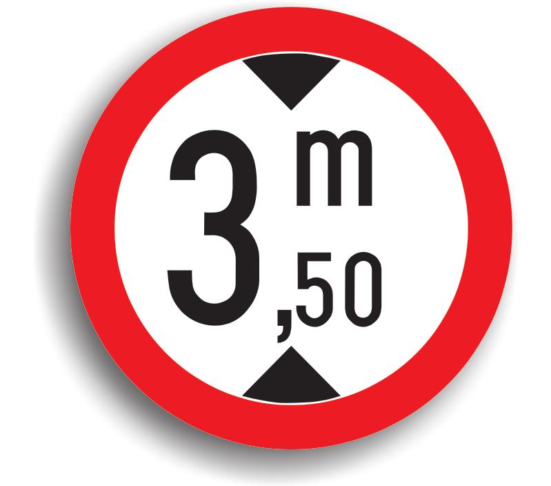 Accesul interzis vehiculelor cu înălțimea mai mare de .. m
