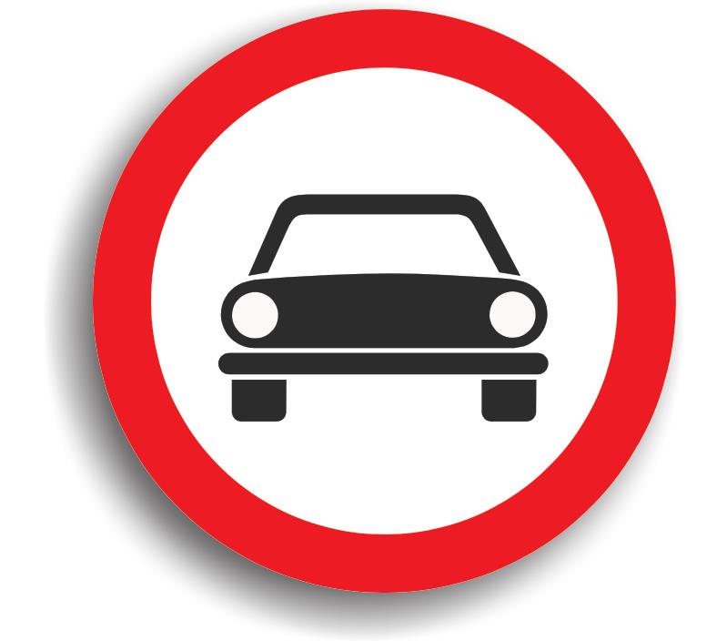 Accesul interzis autovehiculelor cu excepția motocicletelor fără ataș