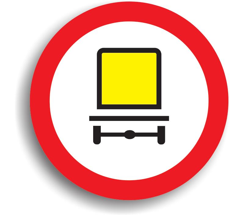 Accesul interzis vehiculelor care transportă mărfuri periculoase