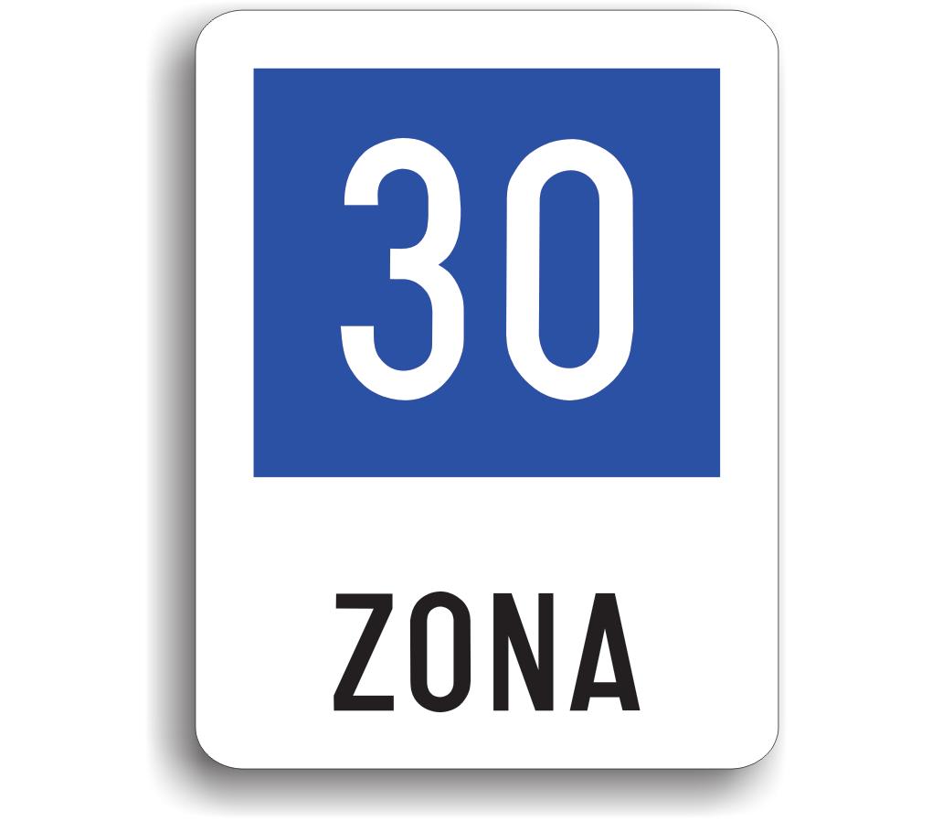 Zonă cu viteză recomandată de 30 km/h
