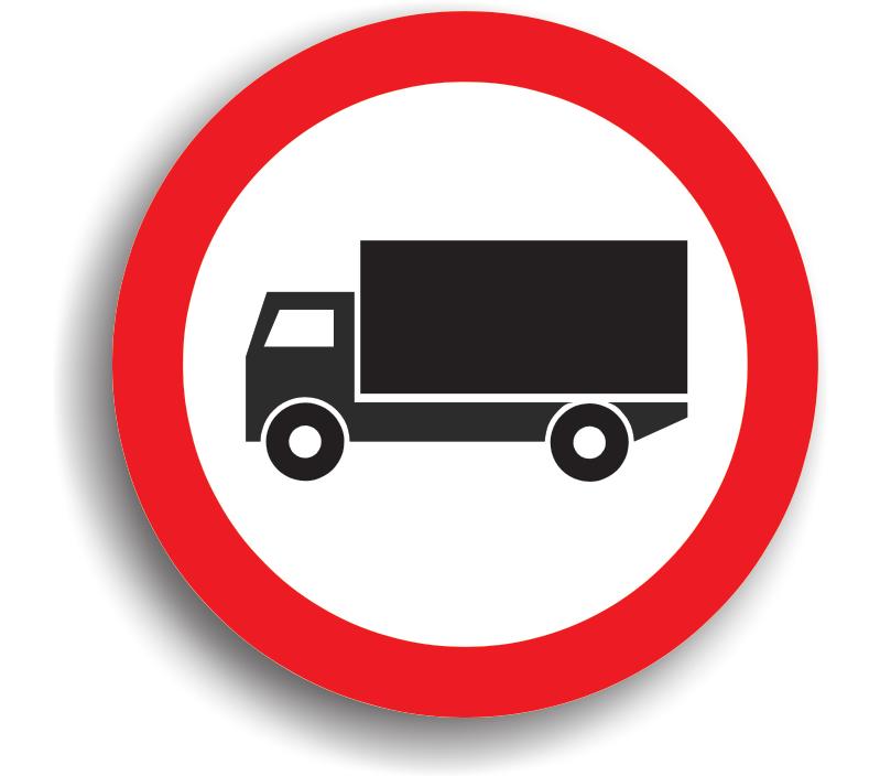Accesul interzis vehiculelor destinate transportului de mărfuri