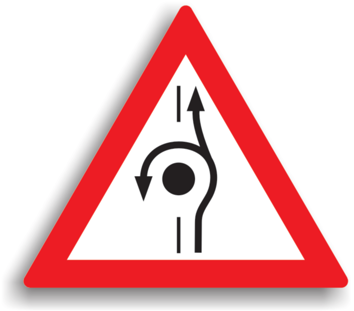 Presemnalizarea unei amenajări rutiere care permite întoarcerea vehiculului