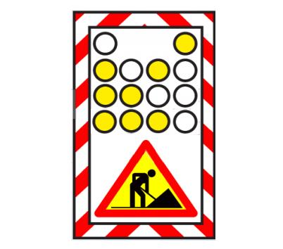 Semnalizarea unui rulaj care se deplasează rulând