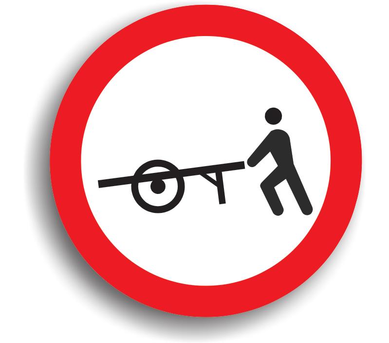 Accesul interzis vehiculelor împinse sau trase cu mâna